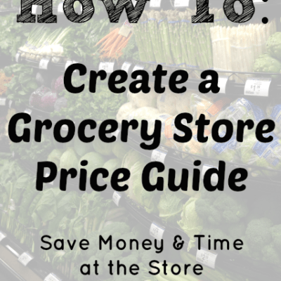 How To Create a Grocery Store Price Guide