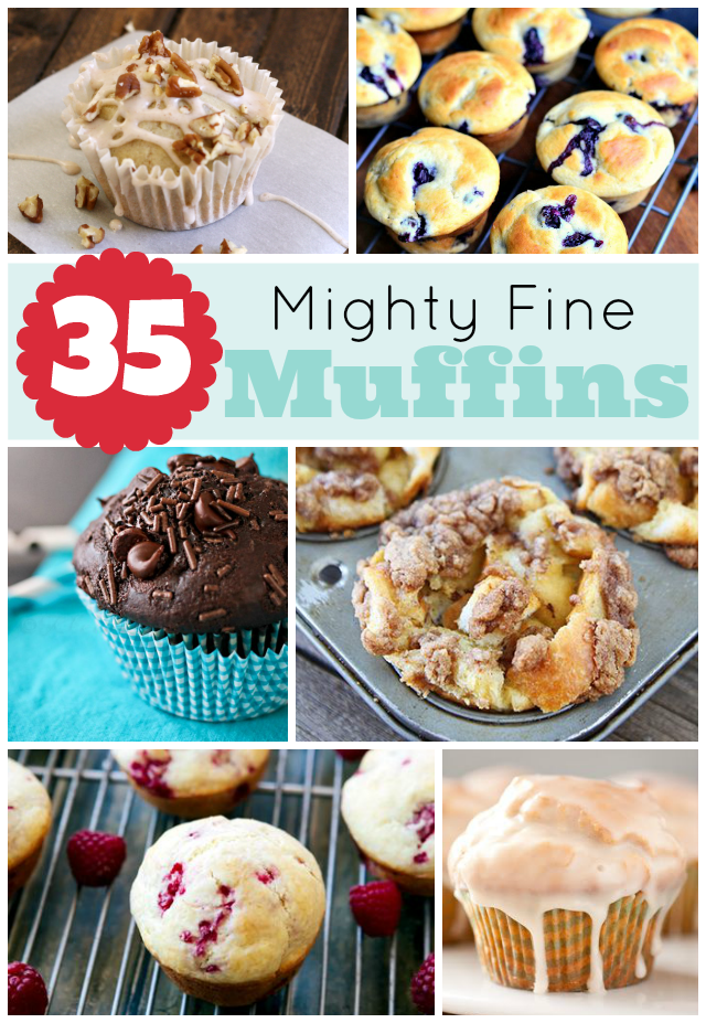35 mighty fine muffin recipes! Just about every type of muffin you could want! #muffin #breakfast