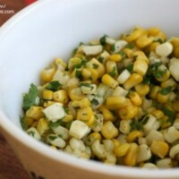 This Corn Salsa reminds me of Chipotle and is so good added to burritos or just scooped up with chips!