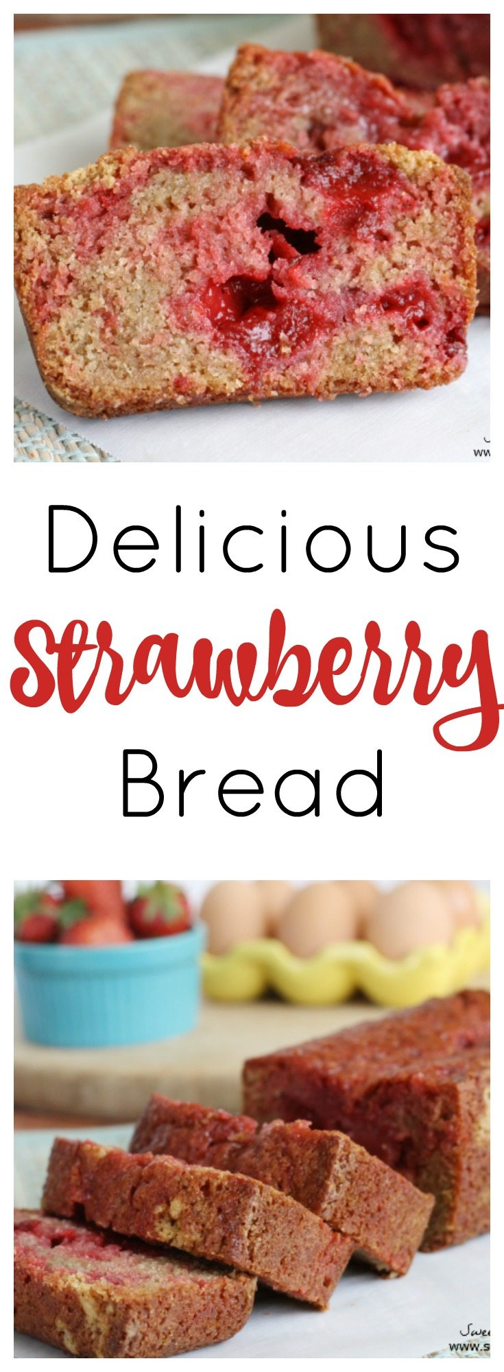 This delicious Strawberry Bread is so moist and bursting with strawberry flavor.