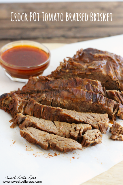 Mouthwatering crock pot tomato braised brisket. #crockpot #recipe