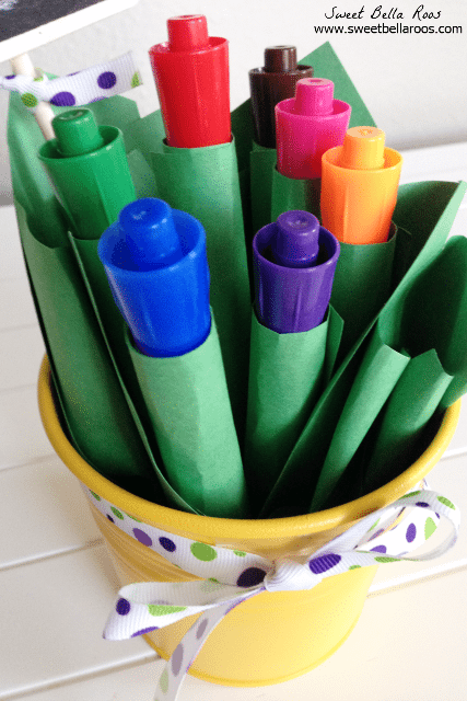 Easy Teacher Appreciation Gift- our teacher is ALWAYS in need of dry erase markers! Cute presentation