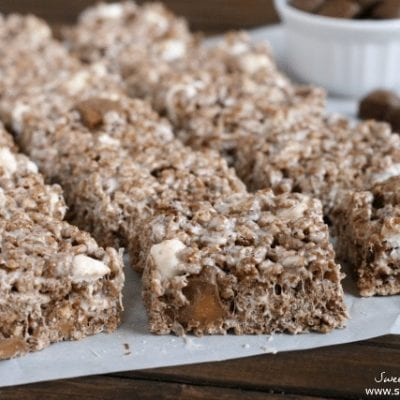 TWIX Bites Chocolate Krispie Treats