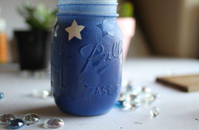 blue mason jar