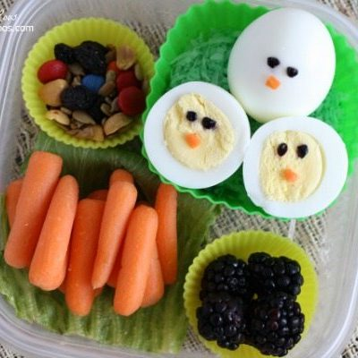 Hardboiled Egg Chick Bento