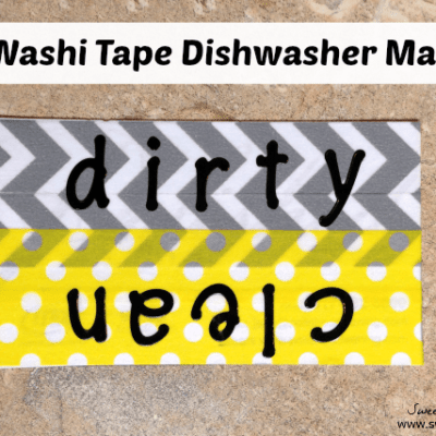 DIY Washi Tape Dishwasher Clean/Dirty Magnet