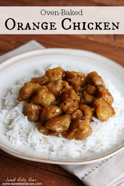 Oven-Baked Orange Chicken- your favorite takeout at home (and healthier!)