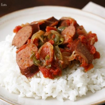 Sausage, Peppers, and Onions Slow Cooker + Freezer Meal
