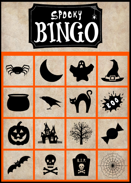 graphic relating to Printable Halloween Bingo known as Spooky Halloween Bingo Playing cards- Free of charge Printable