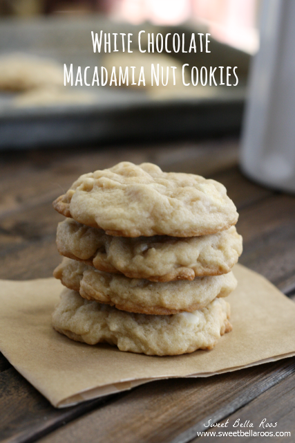 White Chocolate Macadamia Nut Cookies- chewy and delicious, perfect for cookie swaps!
