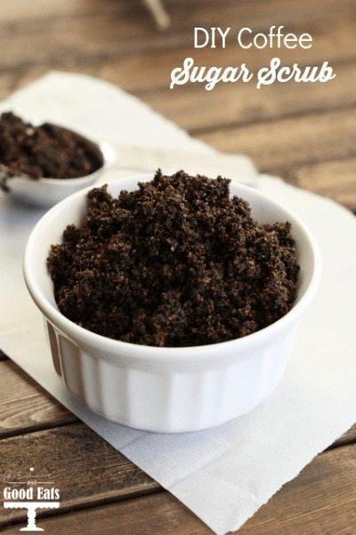 DIY Coffee Sugar Scrub- an easy gift for teachers, friends, or family! Less than $2.15 each