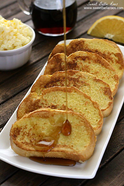 Vanilla Bean Orange Infused French Toast- so delicious