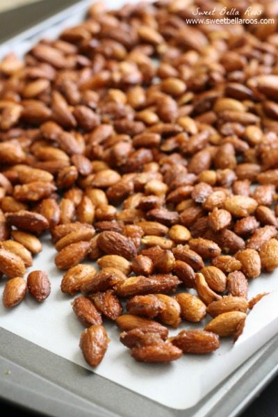 These Sweet and Spicy Almonds are perfect to snack on or serve at holiday gatherings