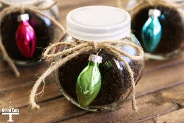 DIY Coffee Sugar Scrub- an easy gift for teachers, friends, or family! Less than $2.15 each