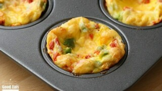Egg Muffins with Peppers and Onions