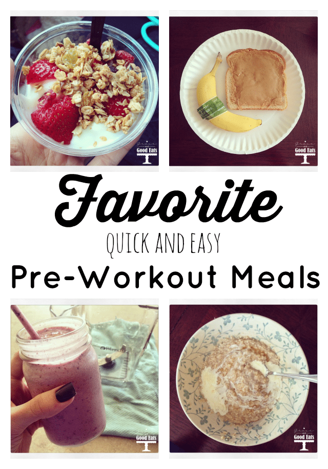 My top 5 favorite pre-workout meals. Low in fat, high in protein, mix of simple and complex carbs to help you reach your fitness goals!