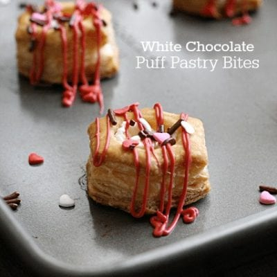 White Chocolate Puff Pastry Bites