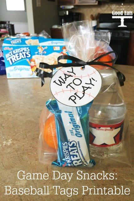 free printable baseball tags for game day snacks grace and good eats
