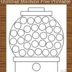 Do A Dot Free Printable: Gumball Machine