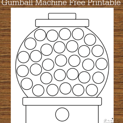 Gumball Machine Do-A-Dot Free Printable