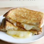 Mild, creamy havarti cheese pairs perfectly with tart apricot for a delicious grilled cheese sandwich