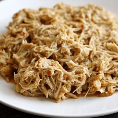 Slow Cooker Shredded Taco Chicken