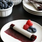 Homemade Fruit Leather is so easy to make and can be made with a variety of different fruits! I don't know why I never tried this before.