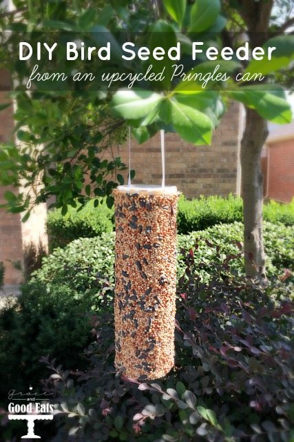Make your own DIY Bird Seed Feeder from an upcycled Pringles can. My kids loved making this!