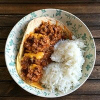 This Mexican Meatloaf is an easy, five ingredient, one pot wonder. Delicious served over rice or scooped up with chips!