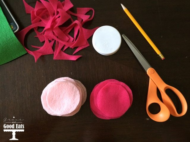 tools needed to make diy felt fortune cookies
