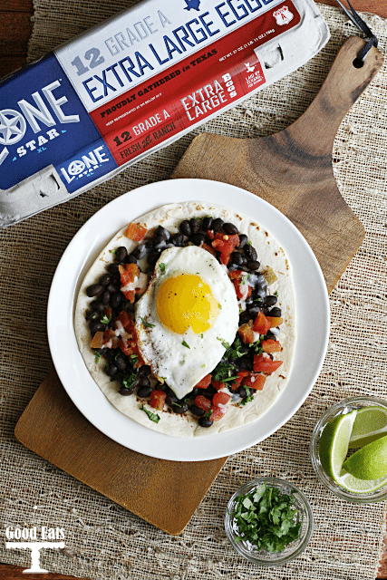 Huevos Rancheros- full of flavor and protein, the perfect breakfast or brinner!