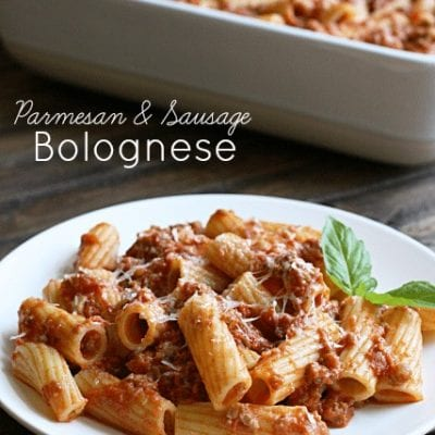 Parmesan and Sausage Bolognese