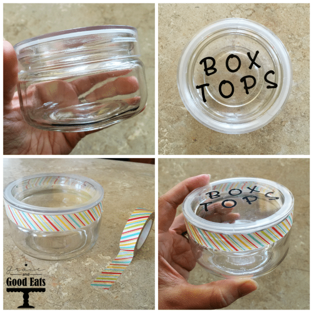DIY Box Top Jar- an easy way to keep track of all of those tiny labels!