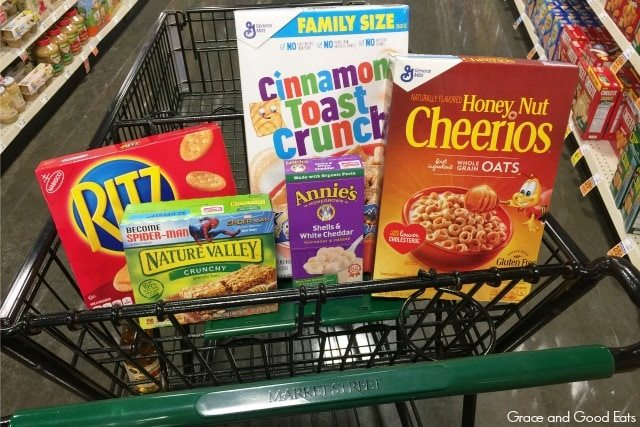 grocery items at Market Street