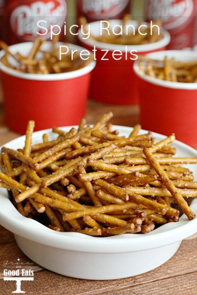 These Spicy Ranch Pretzels are a super easy, no bake treat. Be prepared to eat these all because you won't be able to stop at just one.