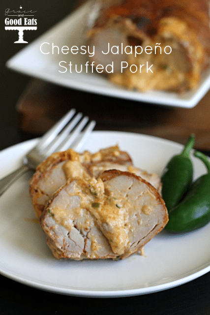 Cheesy Jalapeno Stuffed Pork- an easy weeknight dinner!