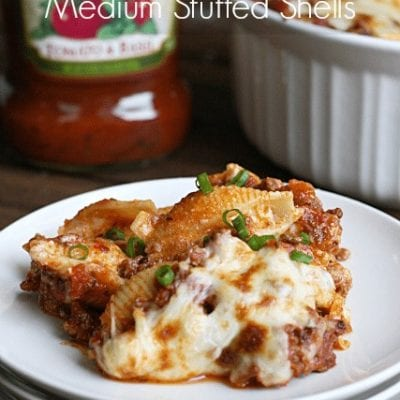 Three Cheese Italian Medium Stuffed Shells