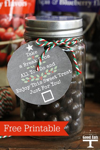 Free Printable Christmas Gift Tags- perfect for teachers, neighbors, etc!