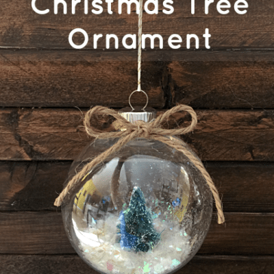 DIY Snowy Christmas Tree Ornaments