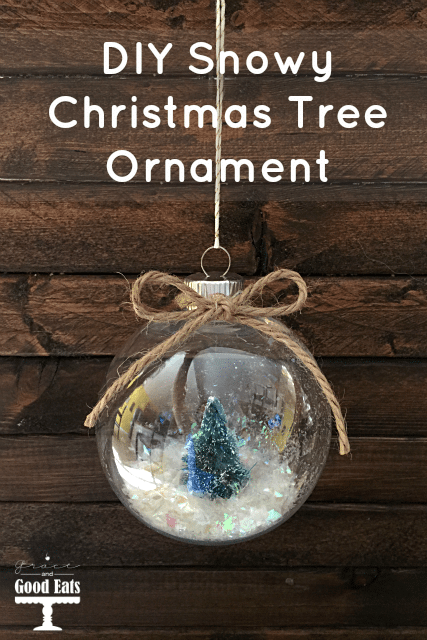 DIY Snowy Christmas Tree Ornaments- so easy to make and much cheaper than the pre-made version!