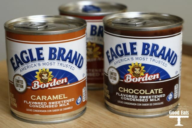 cans of Eagle Brand condensed milk