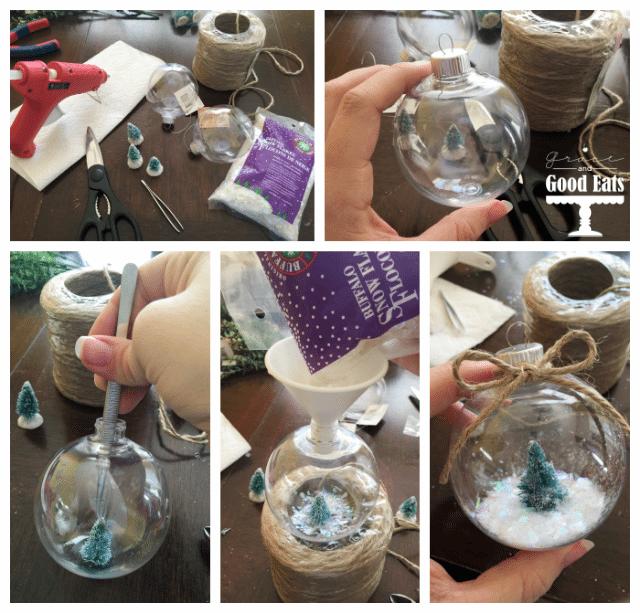 Steps to make DIY Snowy Christmas Tree Ornament