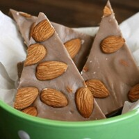 homemade chocolate almond candy
