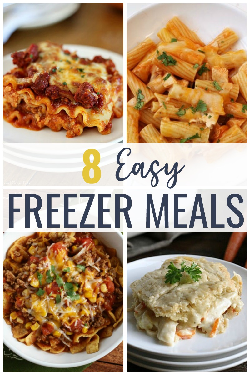 My top ten must make freezer meals for new moms- or anyone looking to get ahead in the dinner department!  Quick and easy meals to freeze like meatloaf, chicken, chili, soup and more.