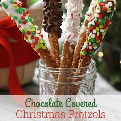 Chocolate Covered Christmas Pretzels