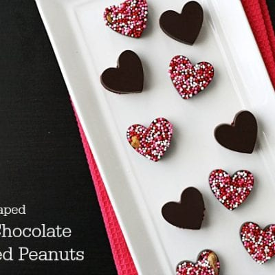Heart-Shaped Dark Chocolate Covered Peanuts