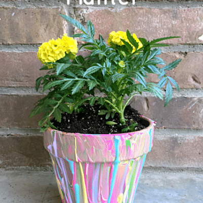 DIY Splatter Paint Planter