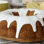 lemon bundt cake with thick lemon glaze