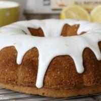 lemon bundt cake with thick lemon glaze