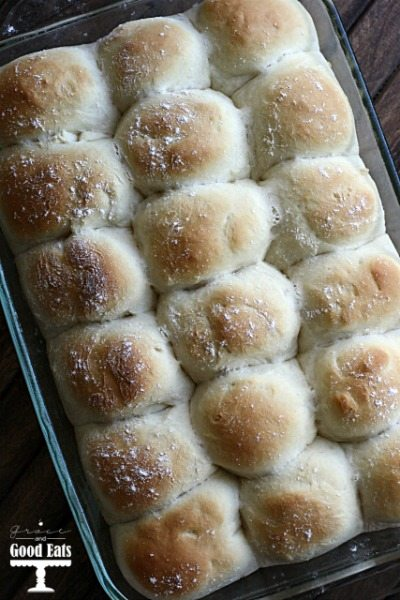 These yeast rolls result is a fluffy, yeasty, delicious roll. This recipe can easily be doubled if you need to make a big batch for a crowd.